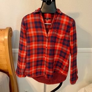 Madewell Red Plaid Button-Down